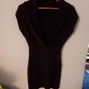 Adore Brown V Neck Sweater Dress - S